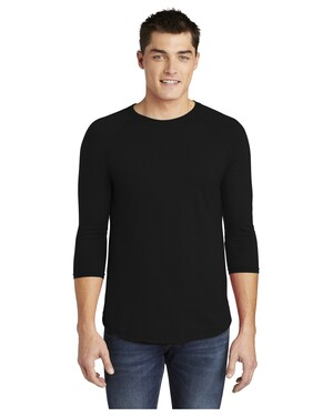 Poly-Cotton 3/4-Sleeve Raglan T-Shirt