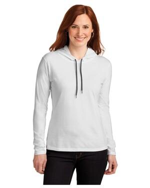 Ladies 100%  Long Sleeve  T-Shirt Hoodie.