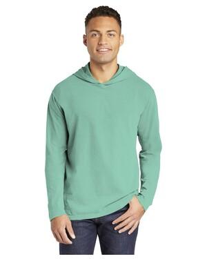 Heavyweight Ring Spun Long Sleeve Hooded T-Shirt