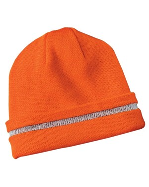 Safety Beanie with Reflective Stripe.