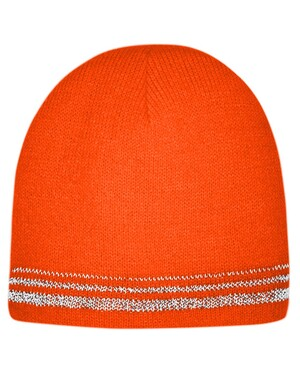 Lined Enhanced Visibility with Reflective Stripes Beanie