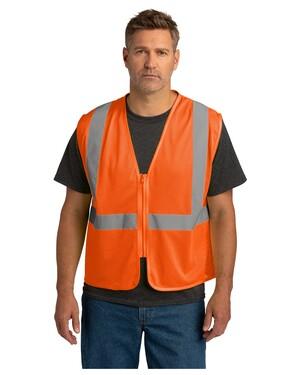 ANSI 107 Class 2 Economy Mesh Zippered Vest.