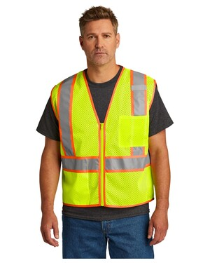 ANSI 107 Class 2 Mesh Zippered Two-Tone Vest.