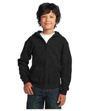Youth Heavy Blend Full-Zip Hooded Sweatshirt.