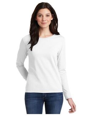 Ladies 100% Cotton Long Sleeve T-Shirt