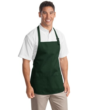 Medium Length Apron with Pouch Pockets.