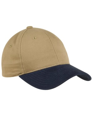 Two-Tone Brushed Twill Cap.