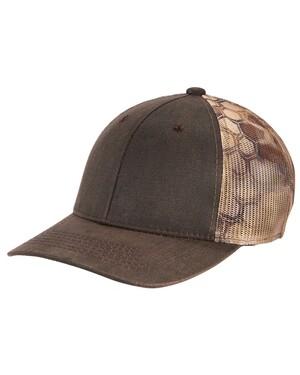 Pigment Print Camouflage Mesh Back Cap