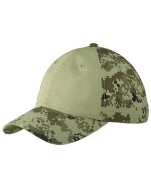Colorblock Digital Ripstop Camouflage Cap.