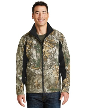Camouflage Colorblock Soft Shell Jacket