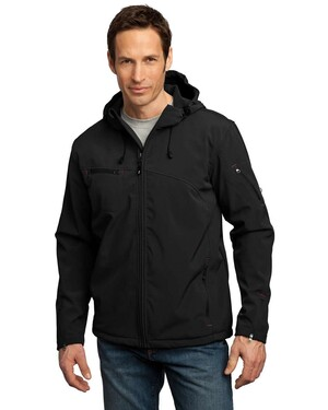 Textured Hooded Soft Shell Jacket.