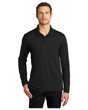Dry Zone UV Micro-Mesh Long Sleeve Polo Shirt