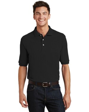 Pique Knit Polo with Pocket.