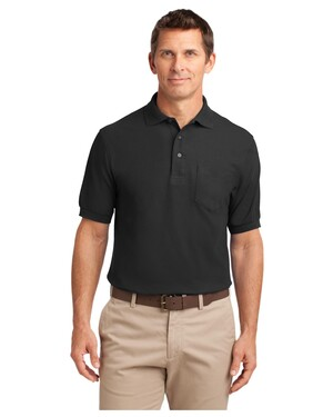Silk Touch  Polo with Pocket.