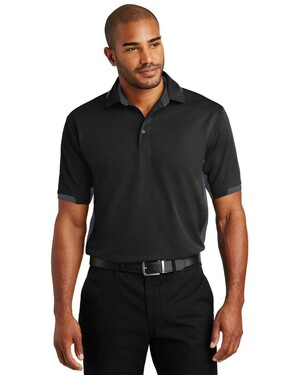 Dry Zone; Colorblock Ottoman Polo Shirt