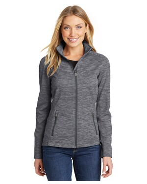 Ladies Digi Stripe Fleece Jacket.