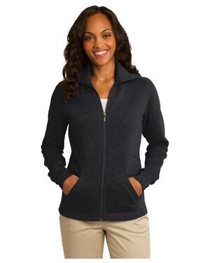 Ladies Slub Fleece Full-Zip Jacket