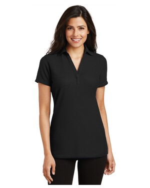 Ladies Silk Touch Y-Neck Polo Shirt