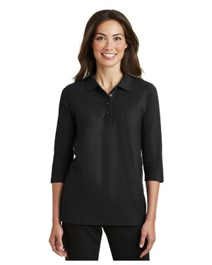 Ladies Silk Touch; 3/4-Sleeve Polo.