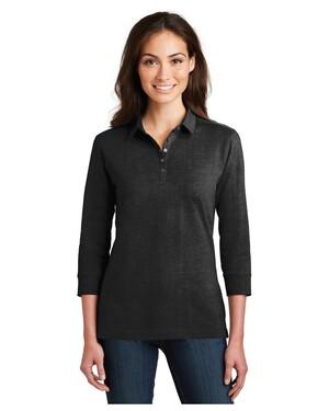 Ladies 3/4-Sleeve Meridian Cotton Blend Polo Shirt
