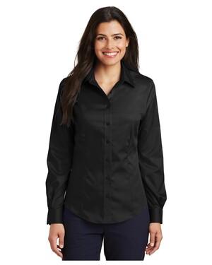 Ladies Long Sleeve Non-Iron Twill Shirt.