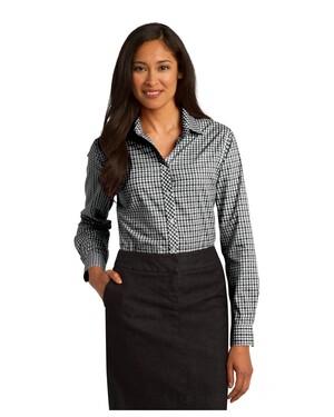 Ladies Long Sleeve Gingham Easy Care Shirt