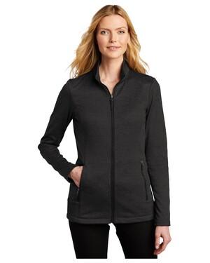 Ladies Collective Striated Fleece Jacket.