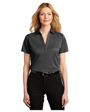 Ladies Heathered Silk Touch Performance Polo.