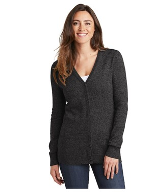Ladies Marled Cardigan Sweater