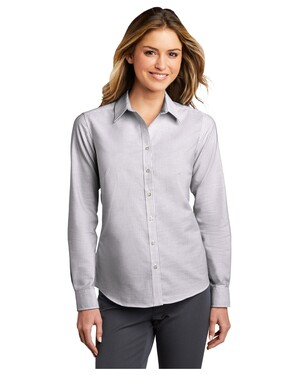 Ladies SuperPro Oxford Stripe Shirt.