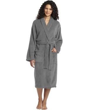 Plush Microfleece Shawl Collar Robe.