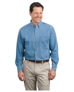 Long Sleeve Denim Shirt.