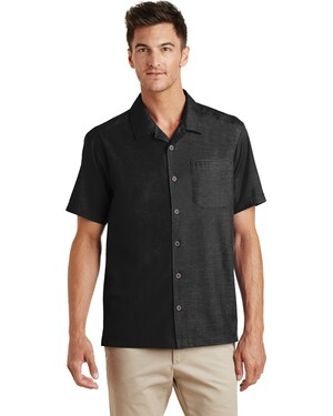 Textured Camp Shirt.