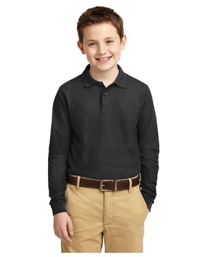 Youth Long Sleeve Silk Touch Polo Shirt
