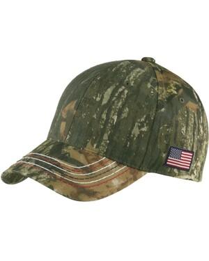 Port Authority  Americana Contrast Stitch Camo Hat