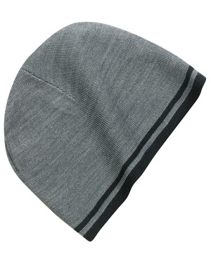 Fine Knit Skull Cap with Stripes.
