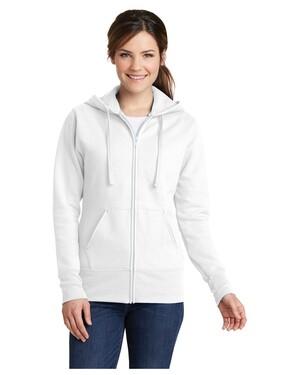 Ladies Classic Full-Zip Hooded Sweatshirt.