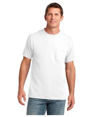 5.4-oz 100% Cotton Pocket T-Shirt.