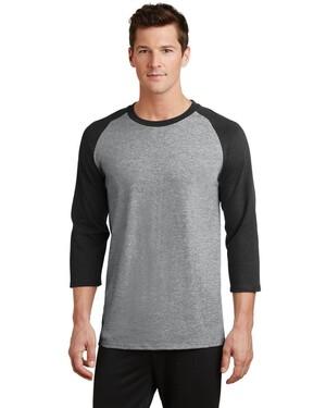50/50 Cotton/Poly 3/4-Sleeve Raglan T-Shirt.