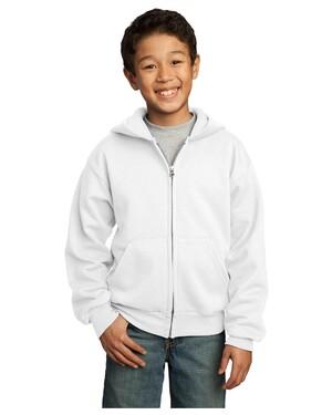 Youth Full-Zip Hooded Sweatshirt.