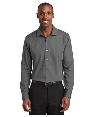 Slim Fit Nailhead Non-Iron Shirt