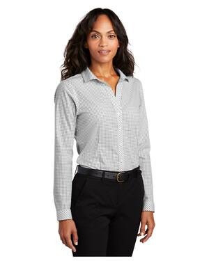 Ladies Open Ground Check Non-Iron Shirt