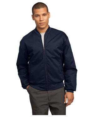 Team Style Jacket with Slash Pockets.