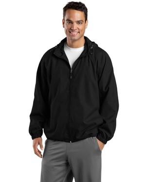 Hooded Raglan Jacket.