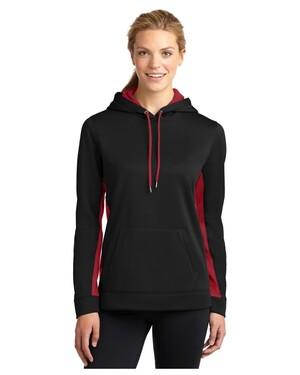 Ladies Sport-Wick  Fleece Colorblock Hoodie