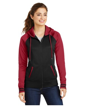 Ladies Sport-Wick  Varsity Fleece Full-Zip Hooded Jacket