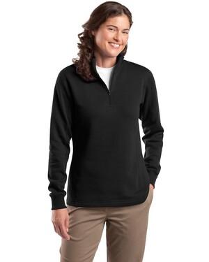 Ladies 1/4-Zip Sweatshirt.