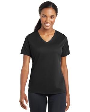 Ladies PosiCharge RacerMesh V-Neck T-Shirt