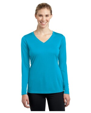 Ladies Long Sleeve V-Neck Competitor T-Shirt