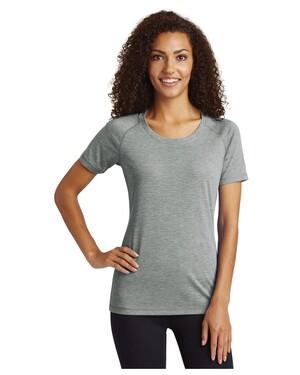Women's PosiCharge  Tri-Blend Wicking Scoop Neck Raglan T-Shirt